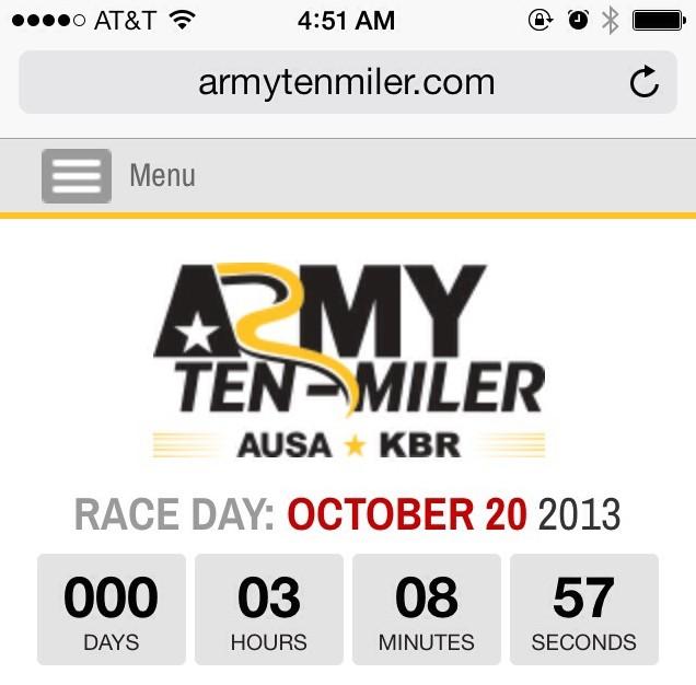 2013 Army Ten Miler Recap