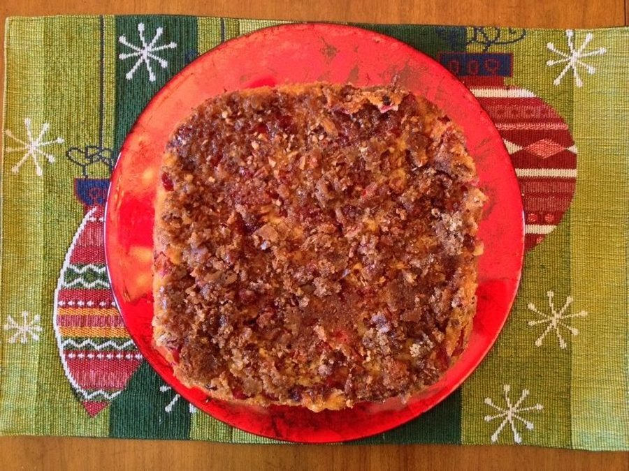 Cranberry Pecan Upside Down Coffee Cake