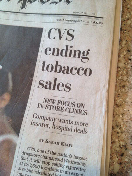 No More Buying Cigarettes At CVS