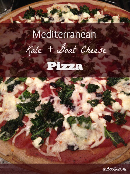 Mediterranean Goat Cheese And Kale Pizza