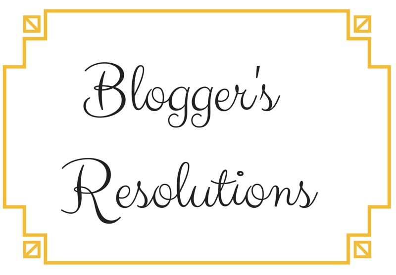 Blogger's Resolutions