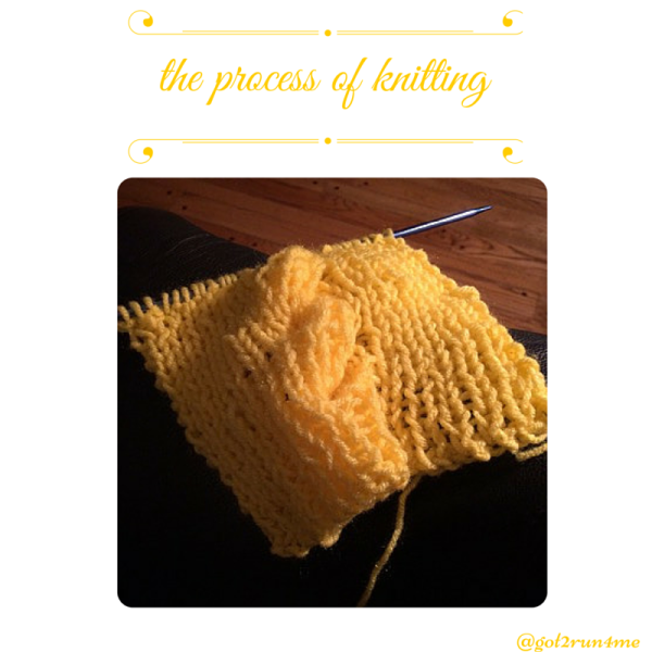the process of knitting