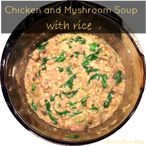 Chicken And Mushroom Soup With Rice