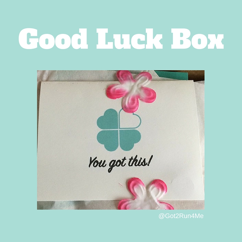 Give a good luck box to your favorite runner got2run4me speaking of race day mojo have you heard of the good luck box its a gift box full of running related goodies that you can send to a friend or family solutioingenieria Choice Image