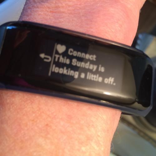 Garmin Connect Message