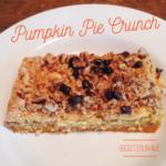 Easy Pumpkin Pie Crunch Bars
