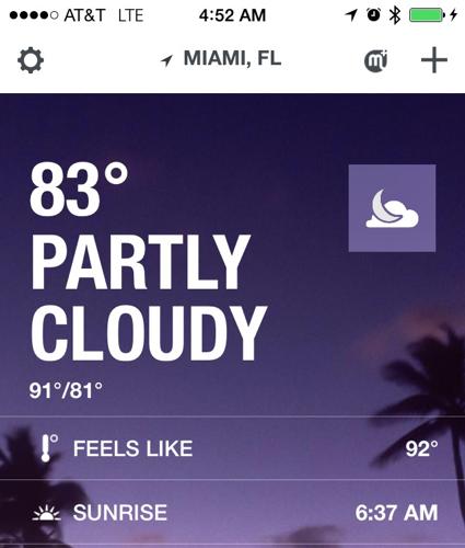 Downtown Miami Weather
