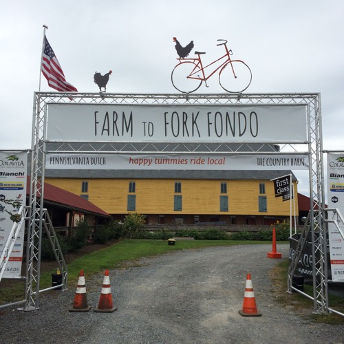 Farm To Fork Fondo Finish Line