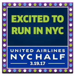United NYC Half Badge