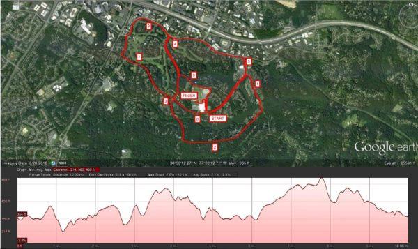 Reston 10 Miler Map